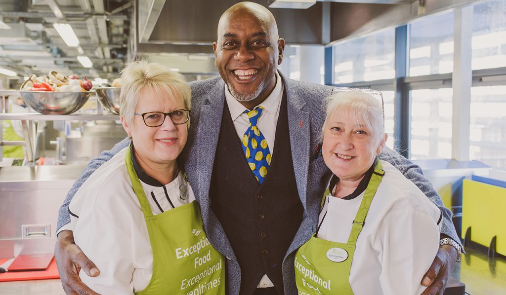 Brooklands chefs and Ainsley Harriott
