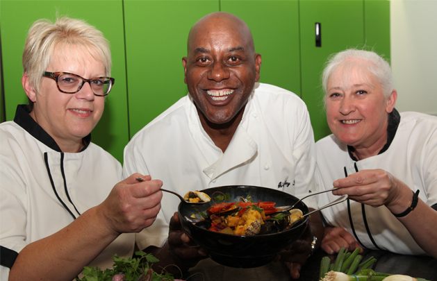 Brookland chefs and Ainsley Harriott