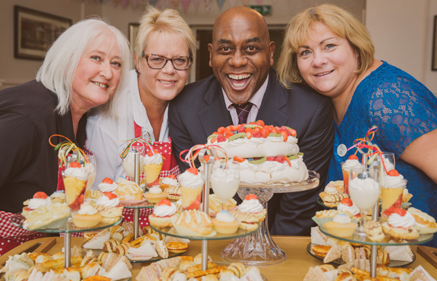 Brooklands Care Home and Ainsley Harriott